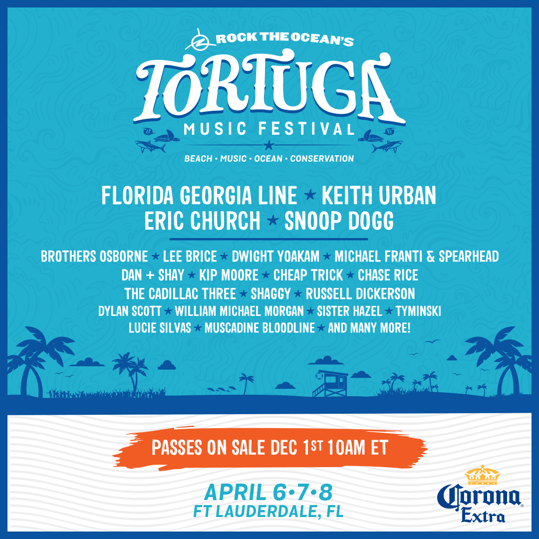 We're headed to the Tortuga Music Festival